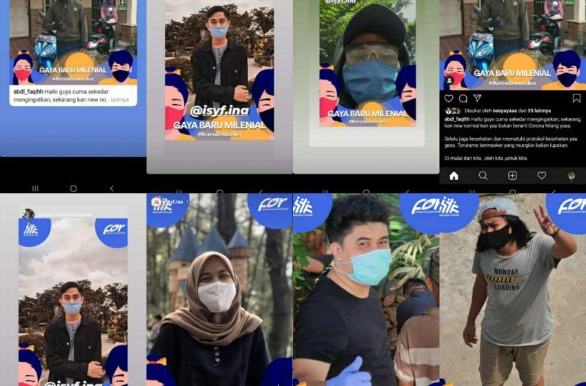 komunitas pemuda kampanyekan gerakan milenial bermasker cegah covid-19