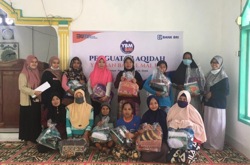 YBM BRI, Salurkan Bantuan Pembinaan Masyarakat di Rannaya Kabupaten Gowa